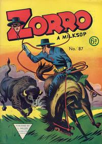 Cover Thumbnail for Zorro (L. Miller & Son, 1952 series) #87