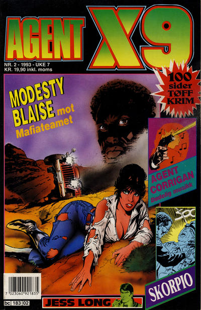 Cover for Agent X9 (Semic, 1976 series) #2/1993