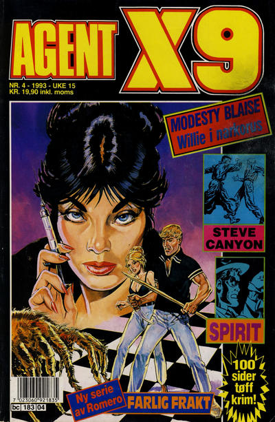 Cover for Agent X9 (Semic, 1976 series) #4/1993