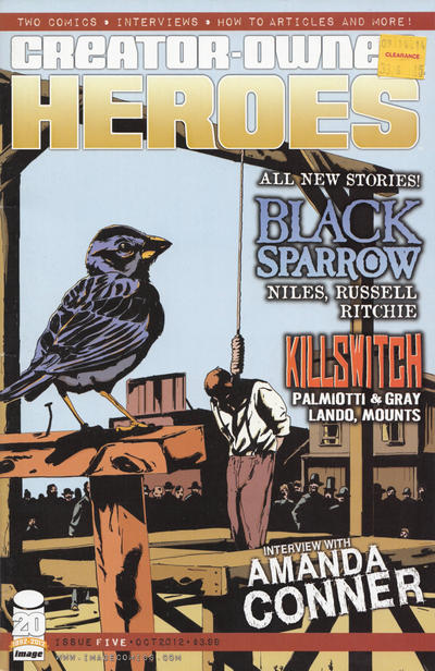 Cover for Creator-Owned Heroes (Image, 2012 series) #5 [Black Sparrow Cover]