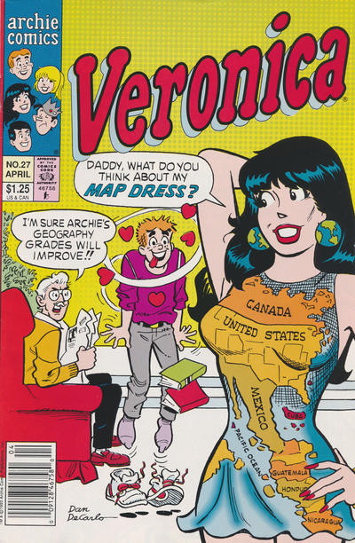 Cover for Veronica (Archie, 1989 series) #27 [Direct Edition]