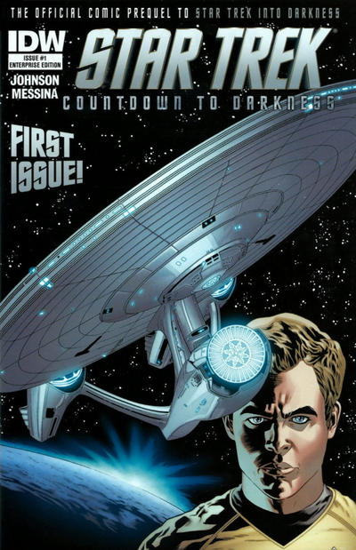 Cover for Star Trek Countdown to Darkness (IDW, 2013 series) #1 [Enterprise Edition by Stephen Molnar]