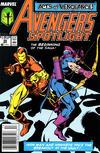 Cover for Avengers Spotlight (Marvel, 1989 series) #26 [Newsstand]