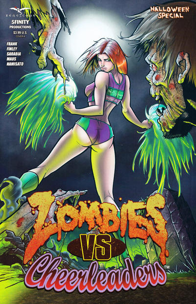 Cover for Zombies vs Cheerleaders: Halloween Special (Zenescope Entertainment, 2014 series) #1 [Cover D by Steven L. Frank]
