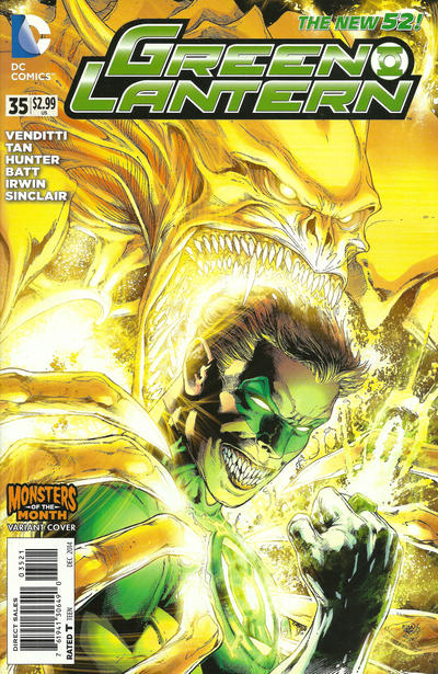 Cover for Green Lantern (DC, 2011 series) #35 [Monsters of the Month Variant]