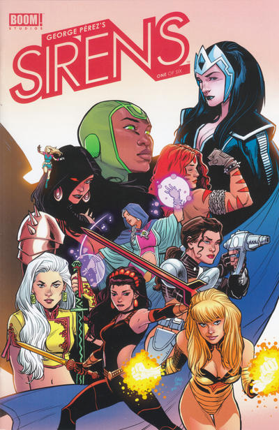 Cover for George Pérez's Sirens (Boom! Studios, 2014 series) #1 [Cover D - Pencil Only Variant of Cover A]
