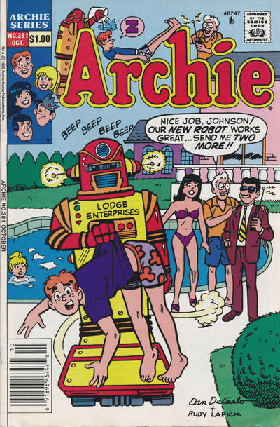 Cover for Archie (Archie, 1959 series) #381