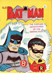 Cover Thumbnail for Batman (K. G. Murray, 1950 series) #36