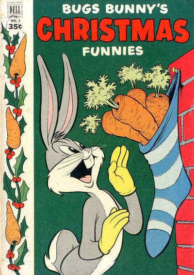 Cover for Bugs Bunny's Christmas Funnies (Dell, 1950 series) #3