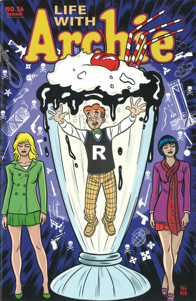 Cover for Life with Archie (Archie, 2010 series) #36 [Mike Allred Cover Variant]