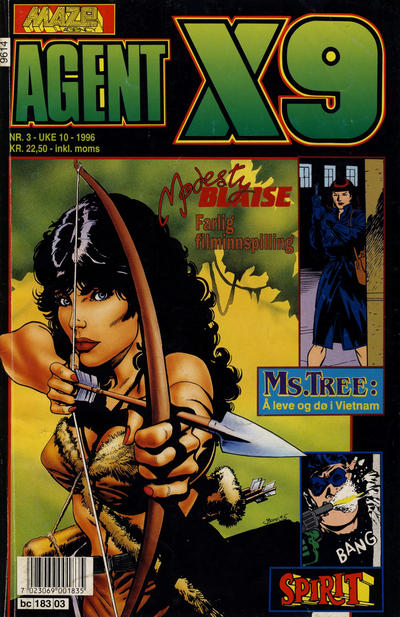 Cover for Agent X9 (Semic, 1976 series) #3/1996