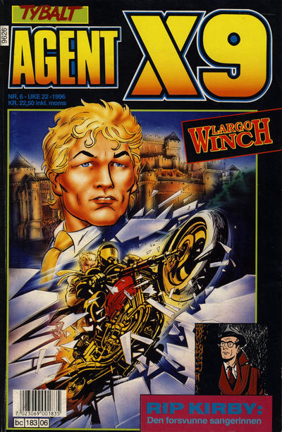 Cover for Agent X9 (Semic, 1976 series) #6/1996