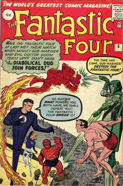 Cover for Fantastic Four (Marvel, 1961 series) #6 [Regular Edition]