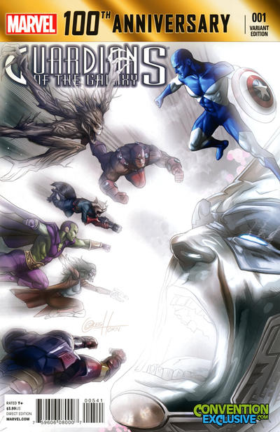 Cover for 100th Anniversary Special: Guardians of the Galaxy (Marvel, 2014 series) #1 [Alexander Lozano Variant]