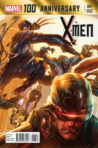 Cover Thumbnail for 100th Anniversary Special: X-Men (Marvel, 2014 series) #1 [Alexander Lozano Variant]