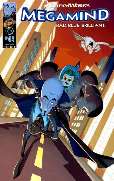 Cover for DreamWorks' Megamind: Bad. Blue. Brilliant (Ape Entertainment, 2010 series) #4
