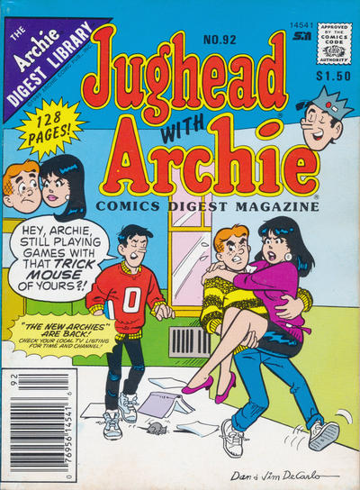 Cover for Jughead with Archie Digest (Archie, 1974 series) #92
