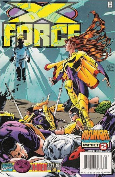Cover for X-Force (Marvel, 1991 series) #58 [Newsstand]