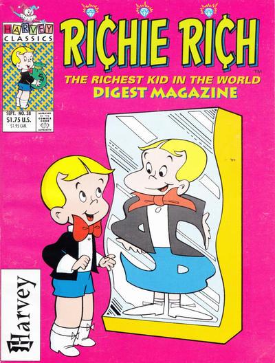 Cover for Richie Rich Digest Magazine (Harvey, 1986 series) #38 [Direct]