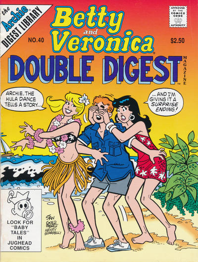 Cover for Betty and Veronica Double Digest Magazine (Archie, 1987 series) #40 [Newsstand]