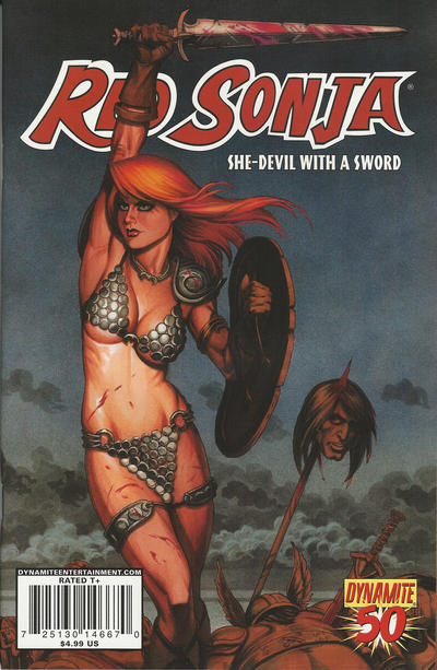 Cover for Red Sonja (Dynamite Entertainment, 2005 series) #50 [Joseph Michael Linsner Cover]