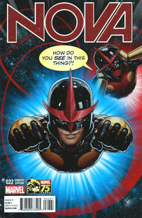 Cover Thumbnail for Nova (Marvel, 2013 series) #22 [Deadpool 75th Anniversary Photobomb Variant by John Tyler Christopher]