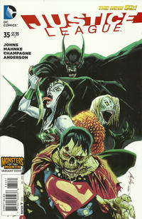 Cover Thumbnail for Justice League (DC, 2011 series) #35 [Monsters of the Month Variant Cover]