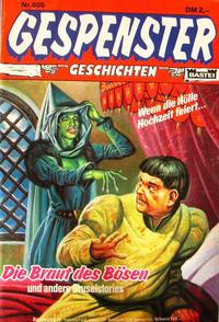 Cover Thumbnail for Gespenster Geschichten (Bastei Verlag, 1974 series) #605