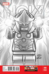 Cover Thumbnail for Nova (2013 series) #8 [Leonel Castellani LEGO Sketch Variant]