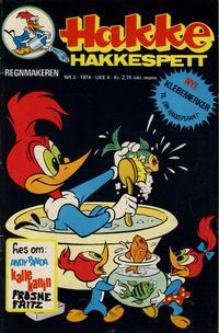Cover Thumbnail for Hakke Hakkespett (Nordisk Forlag, 1973 series) #2/1974