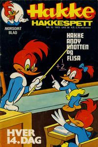 Cover Thumbnail for Hakke Hakkespett (Nordisk Forlag, 1973 series) #12/1973