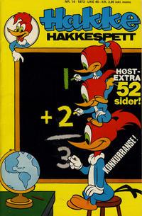 Cover Thumbnail for Hakke Hakkespett (Nordisk Forlag, 1973 series) #14/1973