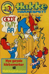 Cover Thumbnail for Hakke Hakkespett (Nordisk Forlag, 1973 series) #1/1974