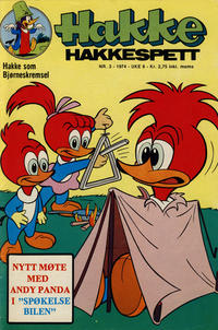 Cover Thumbnail for Hakke Hakkespett (Nordisk Forlag, 1973 series) #3/1974