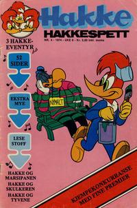 Cover Thumbnail for Hakke Hakkespett (Nordisk Forlag, 1973 series) #4/1974