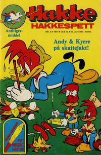 Cover Thumbnail for Hakke Hakkespett (Nordisk Forlag, 1973 series) #6/1974