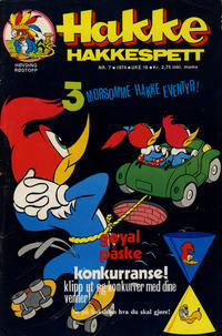 Cover Thumbnail for Hakke Hakkespett (Nordisk Forlag, 1973 series) #7/1974