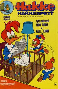 Cover Thumbnail for Hakke Hakkespett (Nordisk Forlag, 1973 series) #13/1974