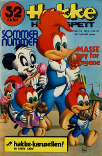 Cover Thumbnail for Hakke Hakkespett (Nordisk Forlag, 1973 series) #14/1974