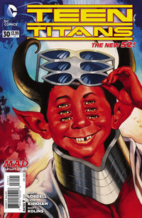 Cover for Teen Titans (DC, 2011 series) #30 [MAD Magazine Cover]