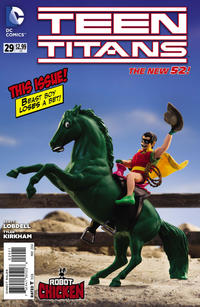 Cover Thumbnail for Teen Titans (DC, 2011 series) #29 [Robot Chicken Cover]