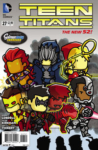Cover Thumbnail for Teen Titans (DC, 2011 series) #27 [Scribblenauts Unmasked Cover]