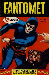Cover Thumbnail for Fantomet (Romanforlaget, 1966 series) #7/1967