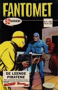 Cover Thumbnail for Fantomet (Romanforlaget, 1966 series) #9/1967