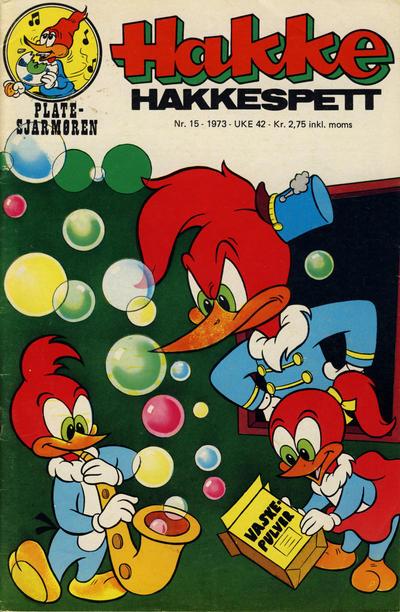 Cover for Hakke Hakkespett (Nordisk Forlag, 1973 series) #15/1973
