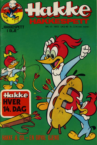 Cover for Hakke Hakkespett (Nordisk Forlag, 1973 series) #17/1973