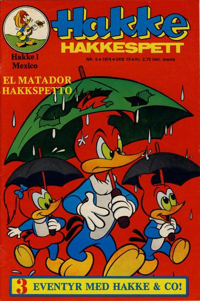 Cover for Hakke Hakkespett (Nordisk Forlag, 1973 series) #5/1974