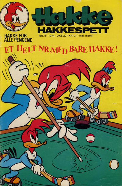 Cover for Hakke Hakkespett (Nordisk Forlag, 1973 series) #9/1974
