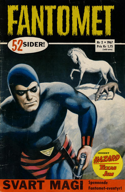 Cover for Fantomet (Romanforlaget, 1966 series) #2/1967