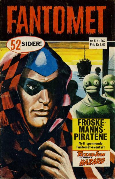 Cover for Fantomet (Romanforlaget, 1966 series) #5/1967